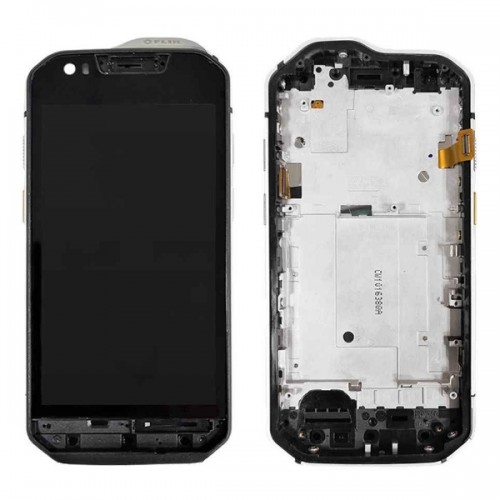 Дисплей для Caterpillar S61/CAT S61, черный, с тачскрином, с рамой