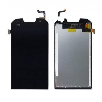 Дисплей для Doogee S30, черный, с тачскрином
