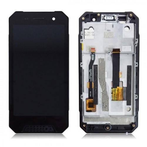 Дисплей для Nomu S30 Mini, черный, с тачскрином, с рамой