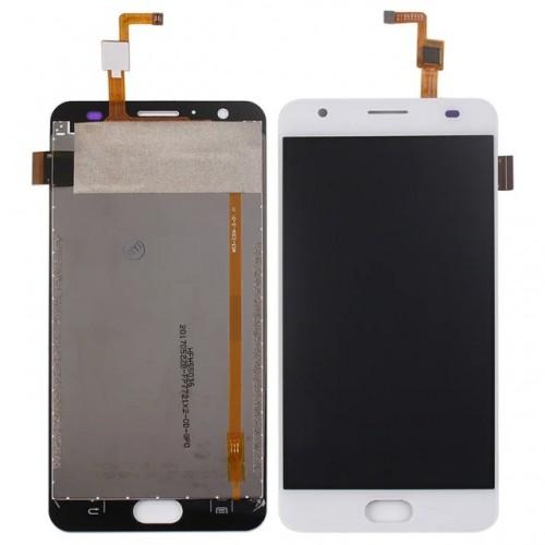 Дисплей для Oukitel K6000 Plus, белый, с тачскрином