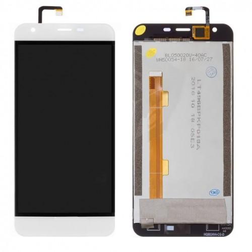Дисплей для Oukitel K7000, белый, с тачскрином
