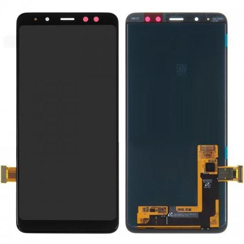 Дисплей для Samsung A8+ 2018/A730, черный, с тачскрином, Incell