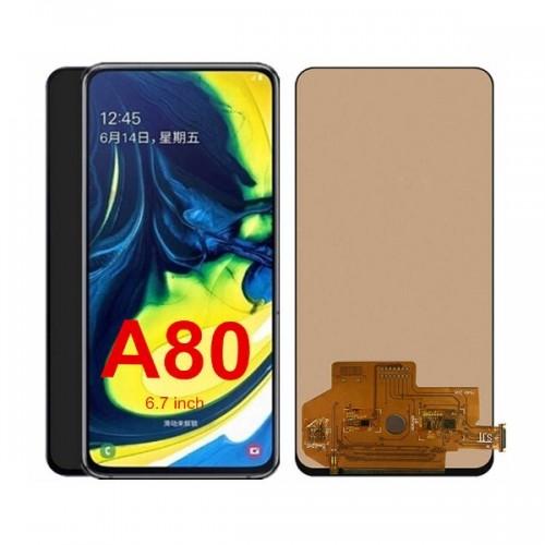 Дисплей для Samsung A80 2019/A805, черный, с тачскрином, Incell