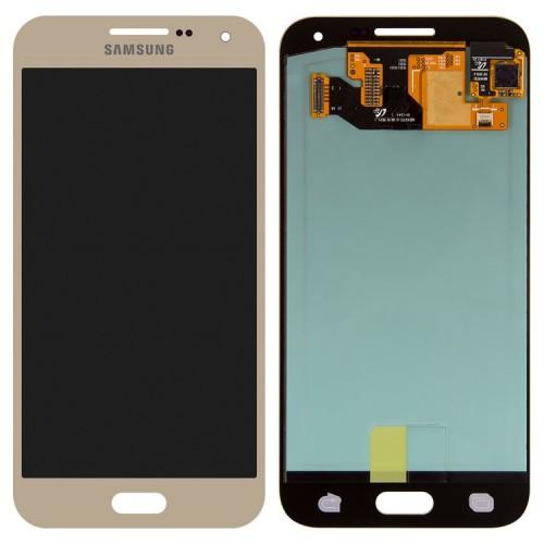 Дисплей для Samsung E5/E500, золотой, с тачскрином, ORIG