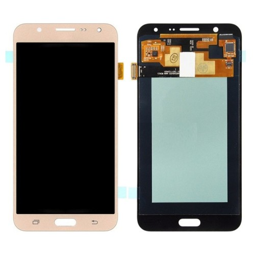 Дисплей для Samsung J7/J700, золотой, с тачскрином, OLED