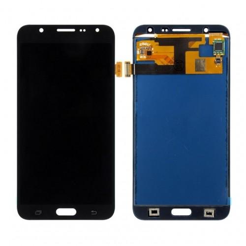 Дисплей для Samsung J7/J700, черный, с тачскрином, TFT, AAA (яркость регулируется)