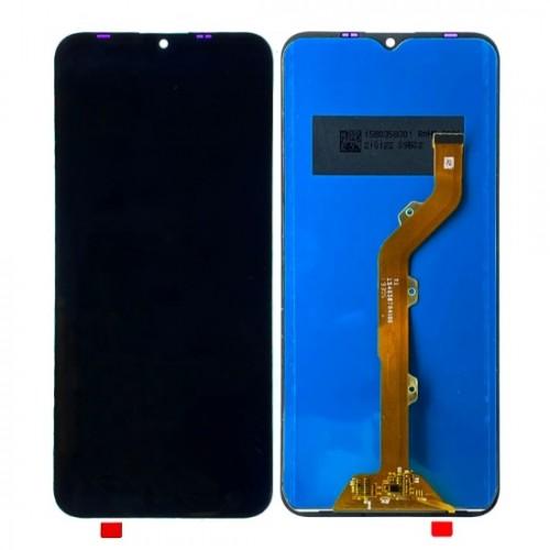 Дисплей для Tecno Spark 4 Lite, черный, с тачскрином