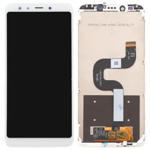Дисплей для Xiaomi Mi A2/Mi6x, белый, с тачскрином