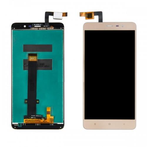 Дисплей для Xiaomi RedMi Note 3 Special Edition, золотой, с тачскрином (150*73 мм)