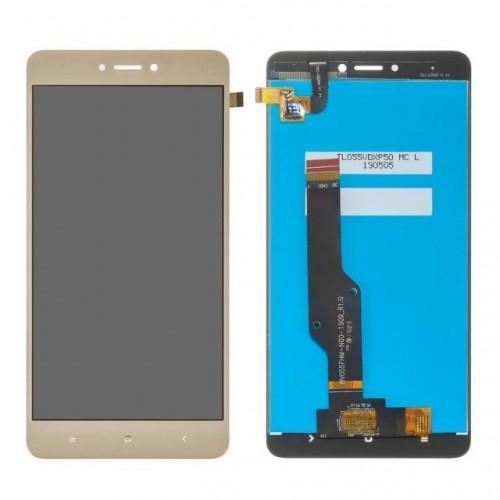 Дисплей для Xiaomi RedMi Note 4x, золотой, с тачскрином