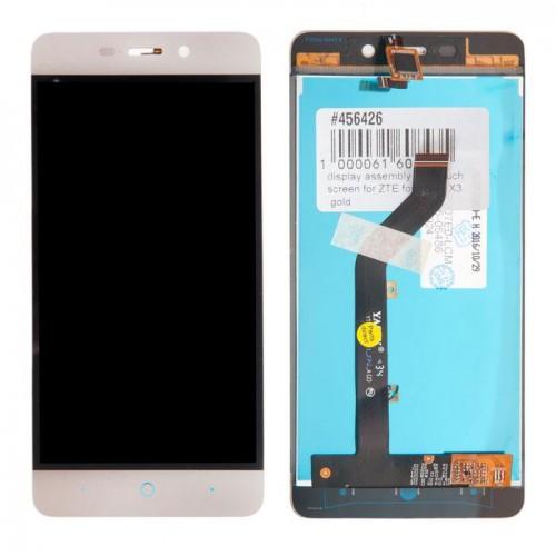 Дисплей для ZTE Blade X3/A452/T620/Q519T, белый, с тачскрином, ORIG