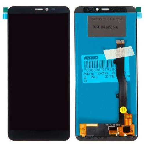 Дисплей для Zte A530, черный, с тачскрином, ORIG