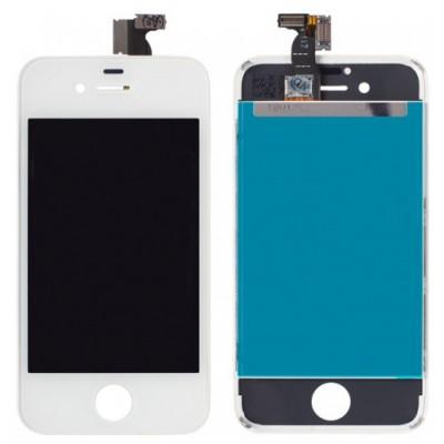 Дисплей для iPhone 4s, белый, с тачскрином, ORIG