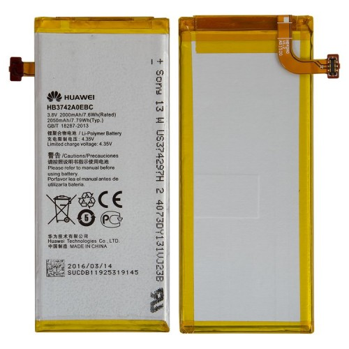 Аккумулятор для Huawei Ascend P6 / HB3742A0EBC